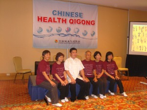 Wang Zhen with some students from China